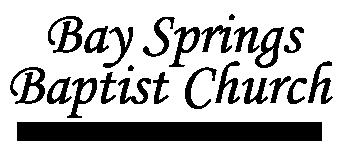 Bay Springs Baptist Church of Porterville, Mississippi